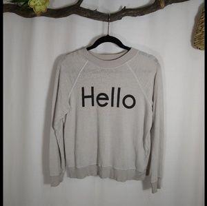 WILDFOX 'hello' gray burnout sweatshirt
